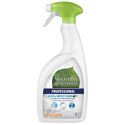 Seventh Generation Professional Glass & Surface Cleaner, Free & Clear, Unscented, 32 fl oz (Pack of 8)