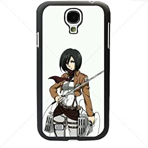 Shingeki no Kyojin Attack on Titan Manga Anime Comic Mikasa Ackerman Samsung Galaxy S4 SIV I9500 TPU Soft Black or White case (Black) by icecream design