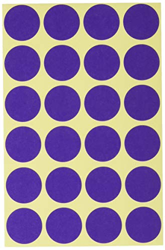 (AVERY Zweckform 3118 Self-Adhesive Marking Dots, Violet (Ø 18 mm; 96 Adhesive Dots on 4 Sheets; Round Stickers for Calendar, Planner and Crafts) Matte Paper)