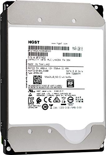 (HGST Ultrastar He10 | HUH721010ALE600| 0F27452 | 512e | 10TB SATA 6.0Gb/s 7200 RPM 256MB Cache 3.5in | Enterprise Hard Drive HDD,  (Renewed))