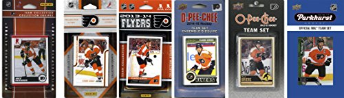 (C&I Collectables NHL Philadelphia Flyers 6 Different Licensed Trading Card Team Sets, White)