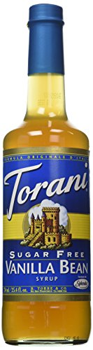 Torani Sugar Free Vanilla Bean Syrup w/ Splenda, 750 mL (Sweetener Free Sugar Torani)