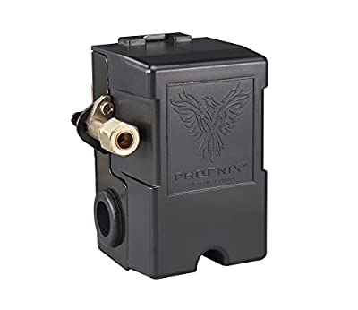 Phoenix™ 1-Port Air Compressor Switch with Unloader Valve and Auto/Off Function (Furnas type)