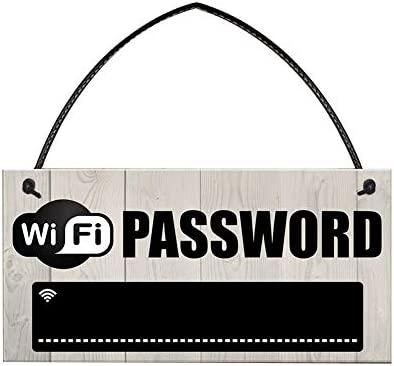 Placa de madera con colgante de contraseña de WiFi, para colgar en la casa, con texto en inglés