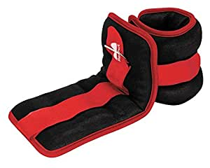 Reehut Ankle Weights, Wrist Weight (1 Pair) with Adjustable Strap for Strength Training, Circuit Trainig, Aerobics Exercise and Endurance Workouts - 0.25 kg Each - Red