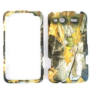 HTC Salsa Camo / Camouflage Hunter Series, w/ Dry Leaves Hard Case, Snap On Cover