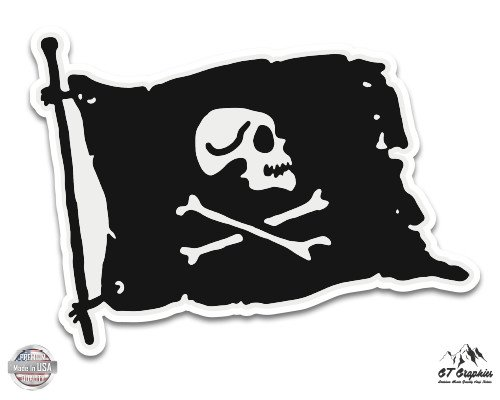 Hat Scallywag (Black Pirate Flag - 3