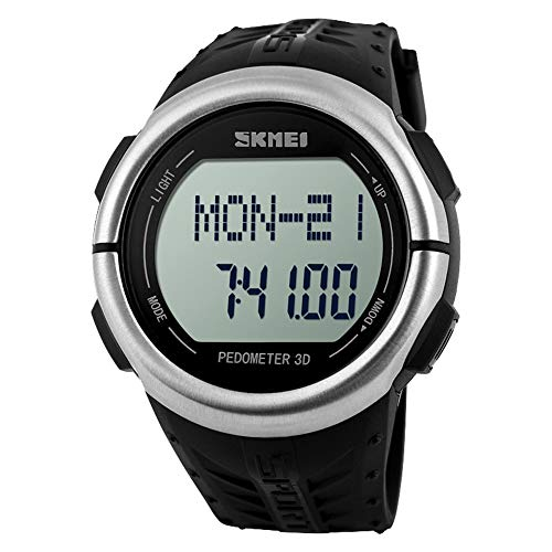 Skmei Pedometer Heart Rate Monitor Calories Counter Digital Wristwatches Fitness for Men Women Outdoor Sports Watches