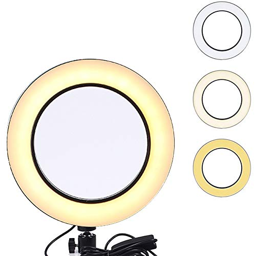 SYL Ring Fill Light for Live Streaming Tripod, YouTube Video Production Light, Photography, Light for Teaching Online, Dimmable LED Lighting Replacement (25.5CM Ring Light)