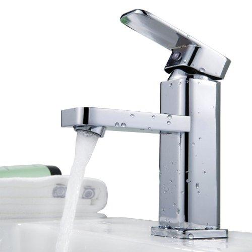Auralum Einhebel Wasserhahn Armatur Waschtischarmatur Wasserfall Einhandmischer f. Küche und Bad