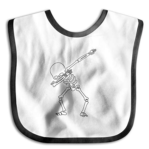 Robprint Dabbing Skeleton Dab Hip Hop Skull Dabbin Baby Girls' Boys' Burp Cloths