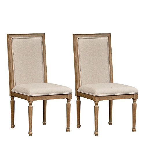 Standard Furniture Savannah Court 2-Pack Upholstered Side Chairs, Distressed Toffee Brown