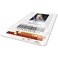 GBC HeatSeal UltraClear Thermal Laminating Pouches, 7mm, Badge ID Card Size, 2-9/16 x 3-3/4, 100 per Box (3200016)