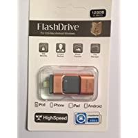 128GB USB OTG Flash Drive for iPhone, iPad, iPod, Windows PC, and OTG enabled Android phones