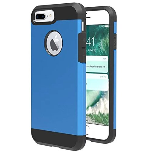 Calypso Car Kit - iPhone 8 plus Case,iBarbe Slim Extreme Heavy Duty Rugged Hybrid Impact 2 Color Shockproof Soft Rugged Hard PC Anti-slip Cover Armor Shock Absorption Protection for iPhone8 5.5 plus(blue/black)