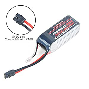 Crazepony Infinity Graphene LiPo Battery 1500mAh 90C 4S 14.8V SY60 Plug Compatible with XT60 for Racing Drone Multirotors
