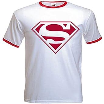 Amazon.com: Urban Shaolin Mens Superman Retro Logo Inspired T ...