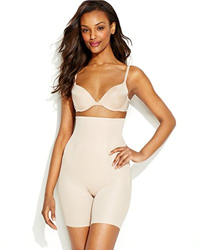 Miraclesuit Shapewear Back Magic High Waist Thigh Slimmer, Nude, L (Women's 12-14)