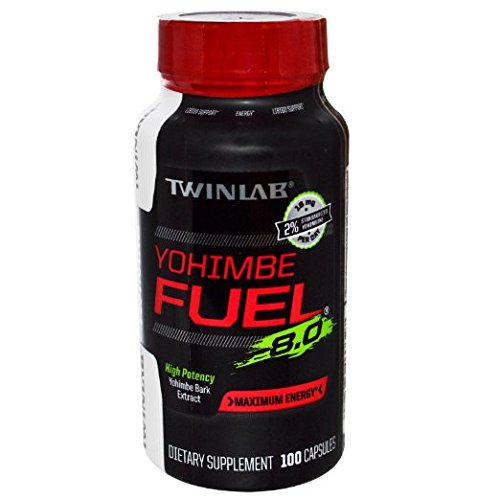 Twinlab, Yohimbe Fuel 8.0 100 Capsules