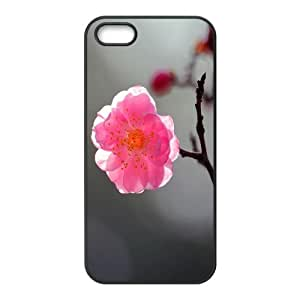 Okaycosama Funny IPhone 5,5S Cases Flower 280 for Girls, Cute Iphone 5s Cases for Teen Girls, {Black}