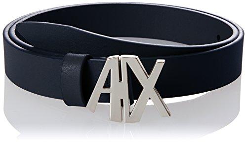 A|X Armani Exchange cinturón con hebilla para mujer, Marino, L