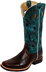 Twisted X Womens Blue Ruff Stock Cowgirl Boot Square Toe - Wrs0023