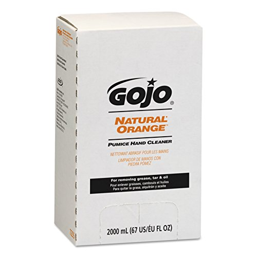 GOJO NATURAL ORANGE Pumice Industrial Hand Cleaner, 2000 mL Quick Acting Lotion Hand Cleaner with Pumice Refill for PRO TDX Dispenser (Case of 4) - 7255-04