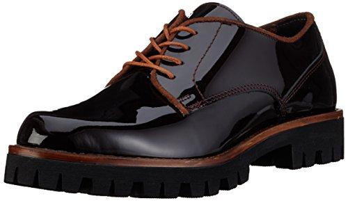 Marco Tozzi Premio 23724, Zapatos de Cordones Oxford para Mujer Rojo (BORDEAUX COMB 550)