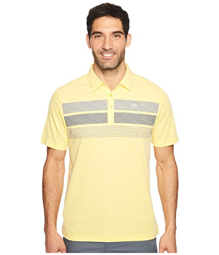 TravisMathew  Men's Greg Eddie Heather Cyber Yellow Shirt