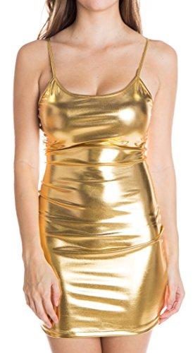 Gold Digger Costume (Metallic Tank Dress,)