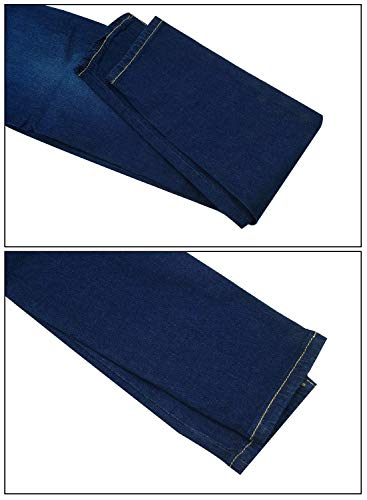 Jeans Skinny Dark AIEOE Super Stretch Waist Jeans Women's High Trousers Women's Blue Lifting Butt 77SCqxgnv