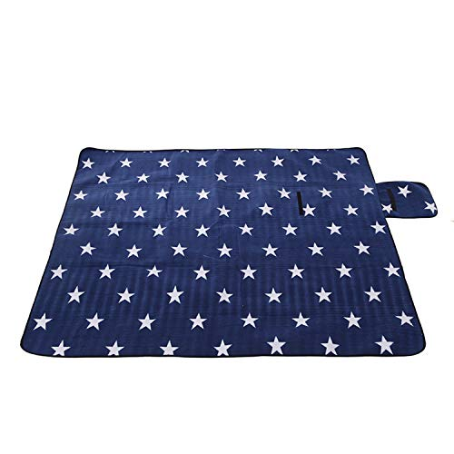 170200cm Foldable Picnic Mat Pad Blanket Outdoor Camping Mat Tent Pad Baby Climb Plaid Blanket Waterproof Beach Blanket Mat,Blue,170cmx200cm