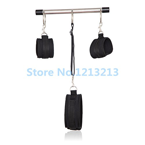 Sex Bondage Restraints Stainless Steel Spreader Bar Sex Toys For Couples Slave Collar & Hand Cuffs & Ankle Cuffs Sex Products by Caroline Giron
