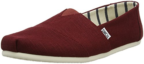 - TOMS Men's Heritage Canvas Classic Slip-On (8.5 D(M) US, Black Cherry)