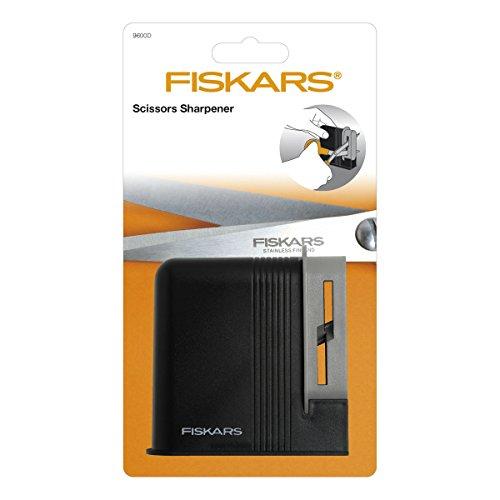 Fiskars 9600D - Afilador de tijeras, 10.2 cm, negro