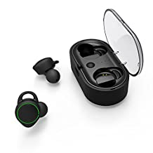 TWS-T02 Wireless Bluetooth Sport Headset with Microphone (HIFI Sound Noise Cancellation,Stereo Earplug,Mini Charging Box 500mAh,Waterproof,ISSC Chip,Multifunctional Button)In-ear Wireless Binaural for IOS iPad and More