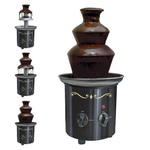Nostalgia CFF-600 Stainless-Steel 2-Tier Chocolate Fondue Fountain Emgee
