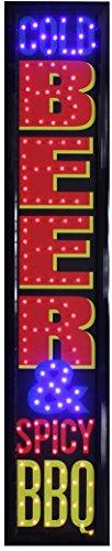Crystal Art - Cold Beer & Spicy BBQ Framed LED Sign