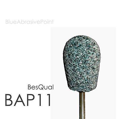 100pk Blue Abrasive Point Medium HP Shank