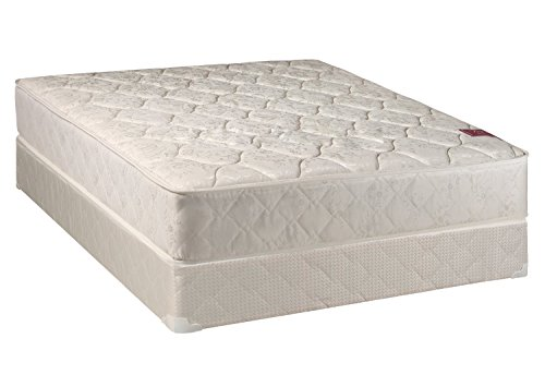 Continental Sleep Elegant Collection Twin Size Mattress Set With Firm Mattress And Low Profile