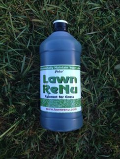 Bring the Green back with Lawn Renu - Eco-friendly Super-Efficient, Non-Toxic Spray Turf Dye - 8 oz Bottle covers around 250 Square Feet