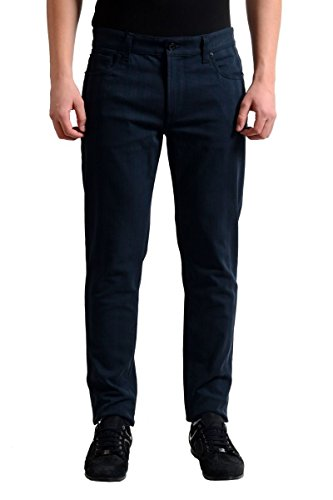 Dolce Gabbana Black Jeans (Dolce & Gabbana Dark Wash Striped Men's Slim Fit Stretch Jeans US 28 IT 44)