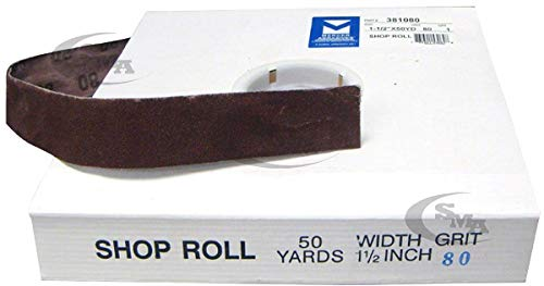 Sandpaper 1-1/2 X 50 Yd Roll 80 Grit 349-SRA80J SRA80J 715080 by TISCO