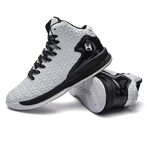Athleti Alto Altura Calzado De Botas Gimnasia White Hombres Elástico Ligera Zapatillas Suave Sneakers Para Correr Choque Gran Transpirable Baloncesto Y Cómodo nqwxaf4