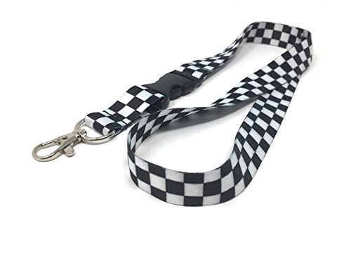 KYBA | Black & White Checkered Premium Lanyard