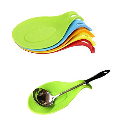 Silicone Insulation Spoon Rest Heat Resistant Placemat Drink Glass Coaster...