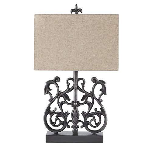 - Ashley Furniture Signature Design - Capper Table Lamp - Antique Silver Finish