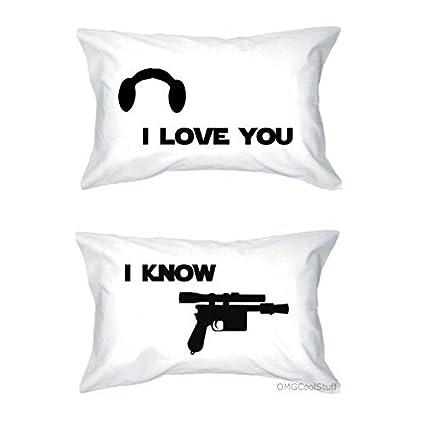 Amazoncom Star Wars I Love You I Know Pillow Case Set Home Kitchen