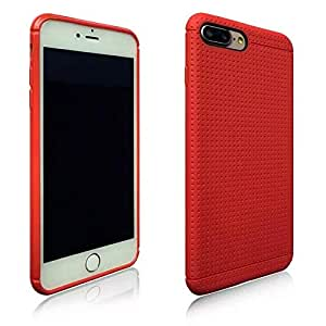 Amzer iphone 8 plus slim honeycomb case - Red