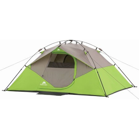9′ x 7′ Instant Dome Camping Tent, Sleeps 4 – Lime Green/Grey